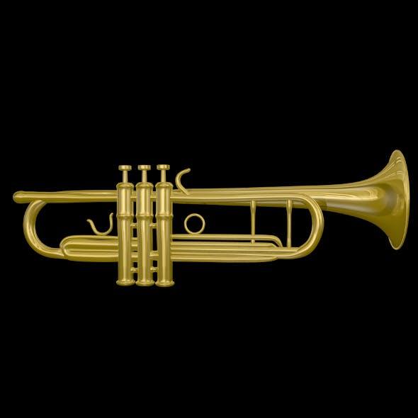 Trumpet 3D Model - 3DOcean Item for Sale