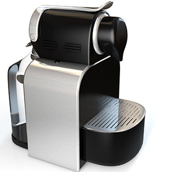 Realistic High-End Nespresso Model and Light Setup