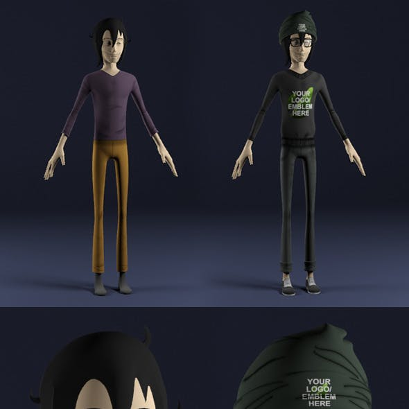 Hiki - Character Pack For Animation