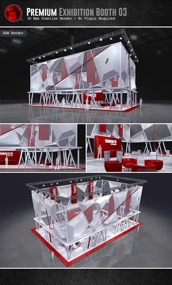 Premium Exhibition Design 03 - 3DOcean Item for Sale