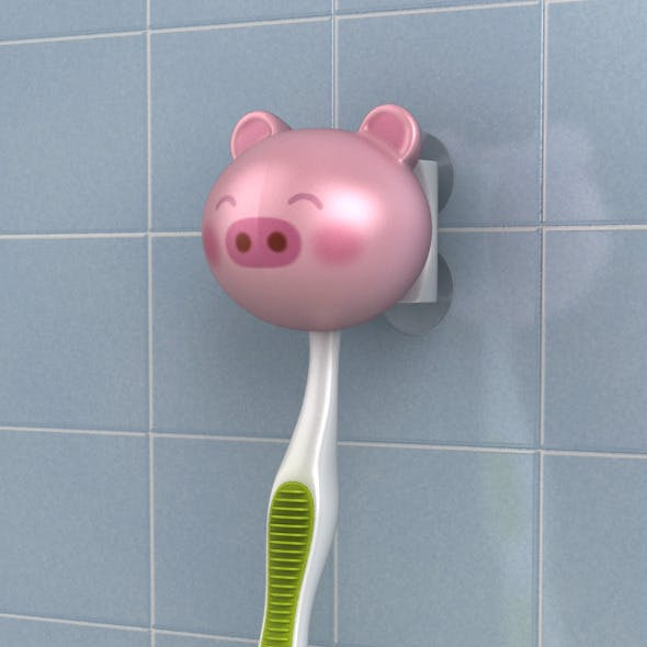 Toothbrush holder pig