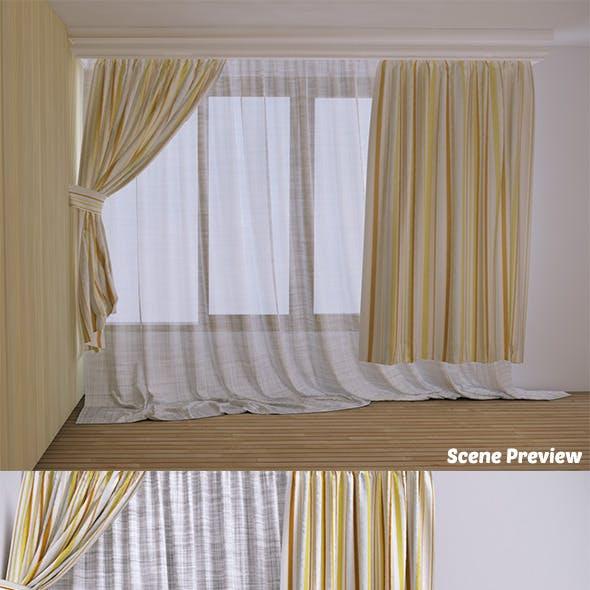 Curtain - 2 (VrayC4D)