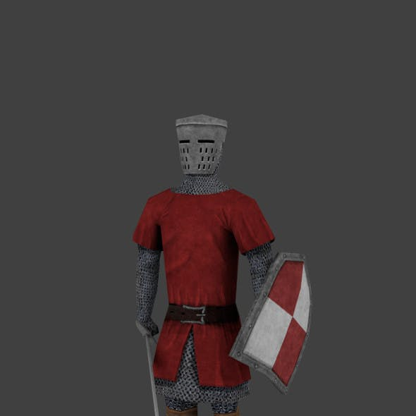 Knight Low Poly Rigged