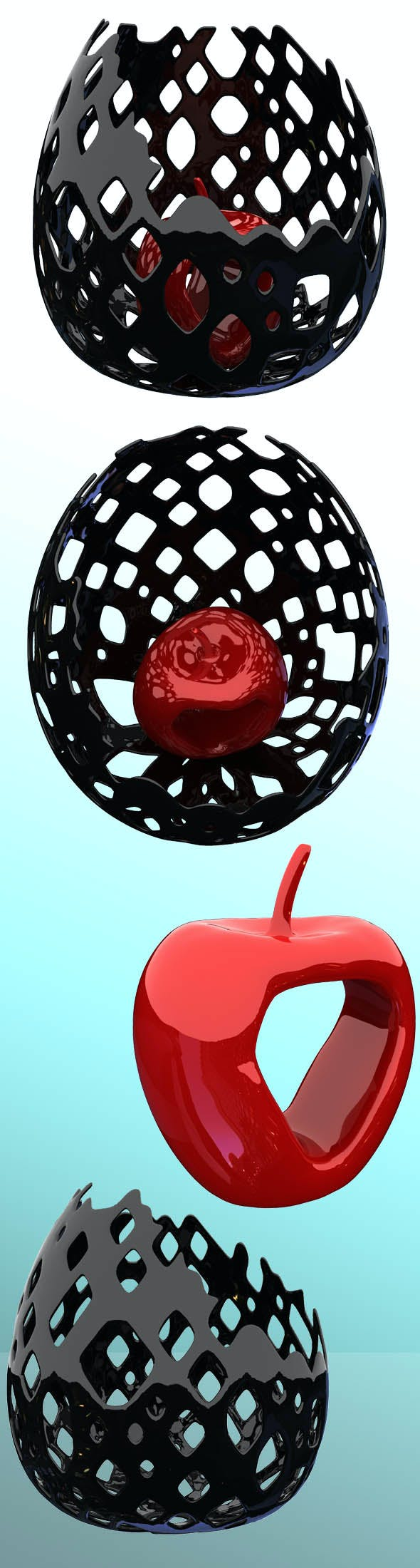 Apple in a vase - 3DOcean Item for Sale