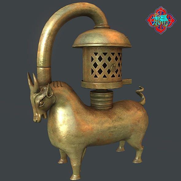 Bronze Bull lamp