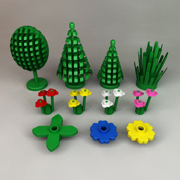 Lego Trees, Plants and Flowers
