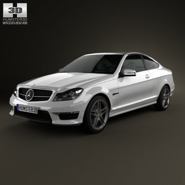 Mercedes-Benz C-Class 63 AMG coupe 2012 - 3DOcean Item for Sale