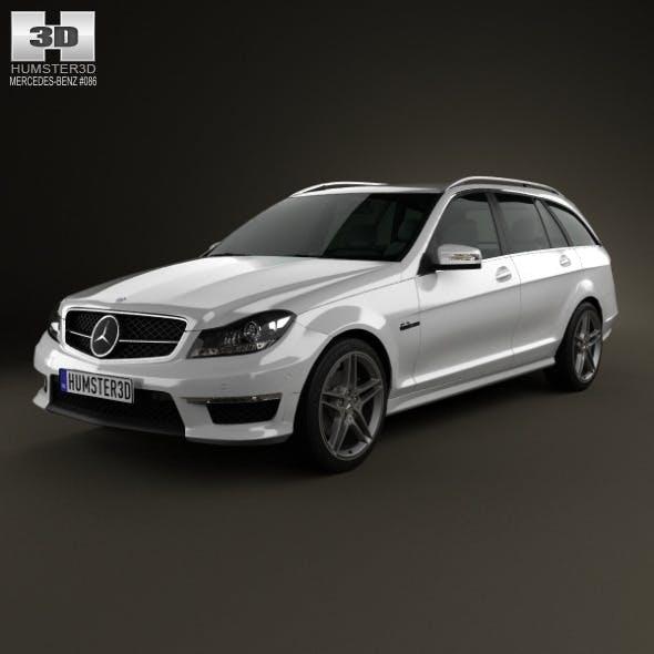 Mercedes-Benz C-Class 63 AMG estate 2012 - 3DOcean Item for Sale