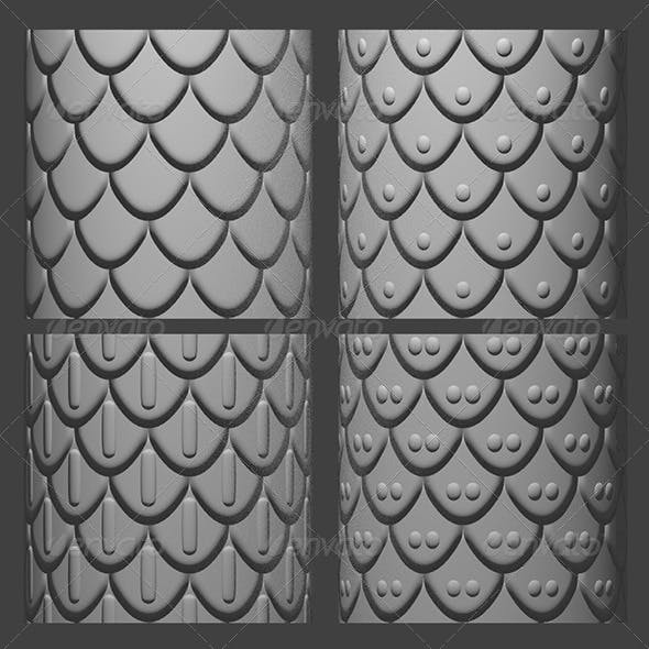 Armor Scales Normal Map Set 1 - 3DOcean Item for Sale