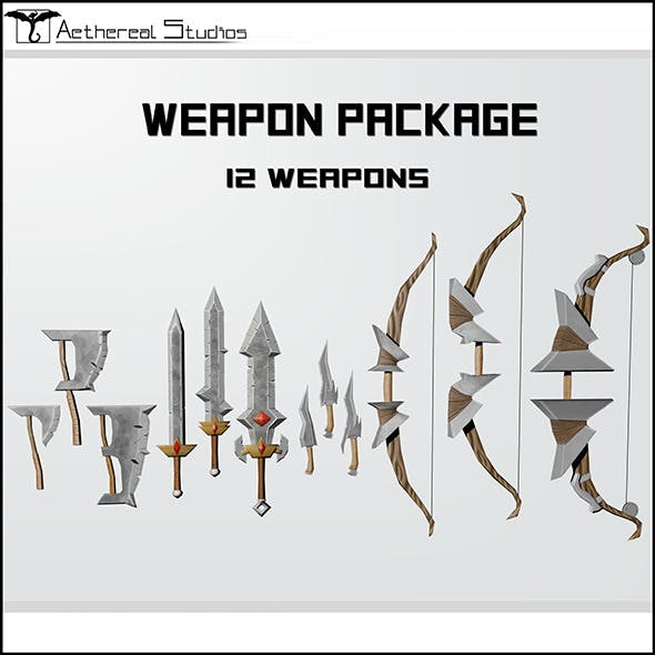 Fantasy Weapon Pack - 3DOcean Item for Sale