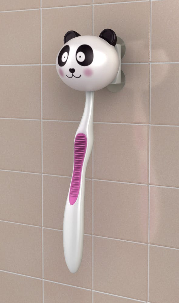Toothbrush holder panda - 3DOcean Item for Sale