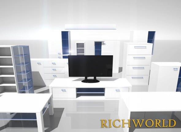 Interior Set - Living - 3DOcean Item for Sale