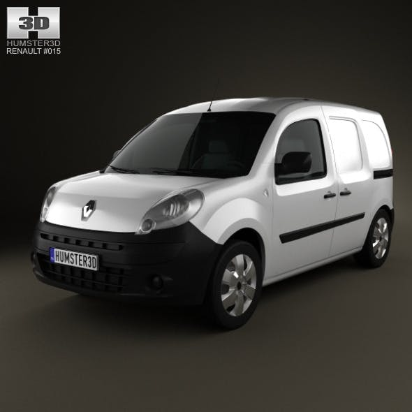 Renault Kangoo Van 2 Side Doors 2011 - 3DOcean Item for Sale