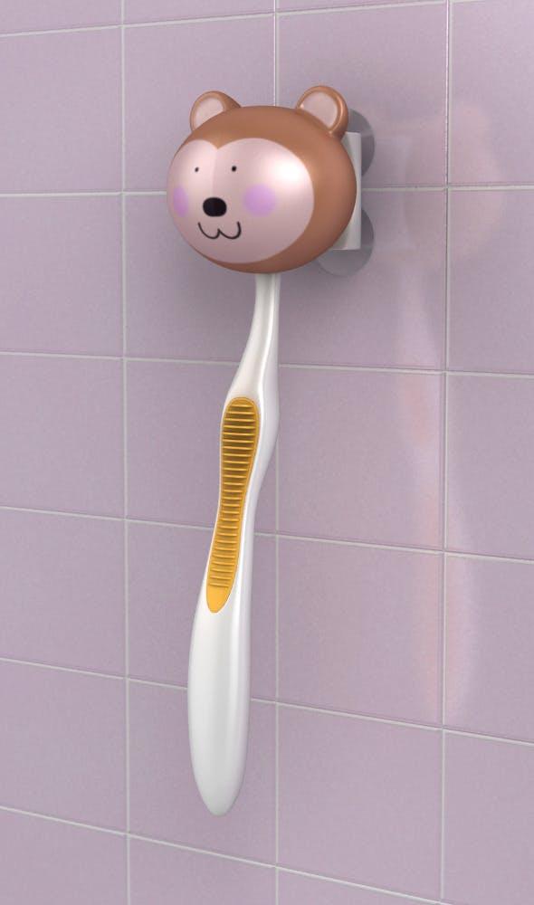 Toothbrush holder bear - 3DOcean Item for Sale