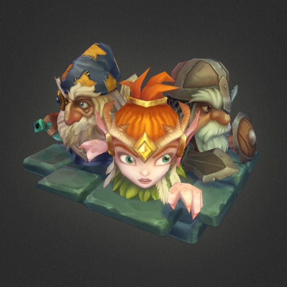 Low Poly Micro Hero Set