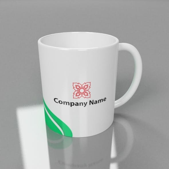 3D Mug Ready for Advertising