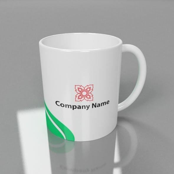 3D Mug Ready for Advertising