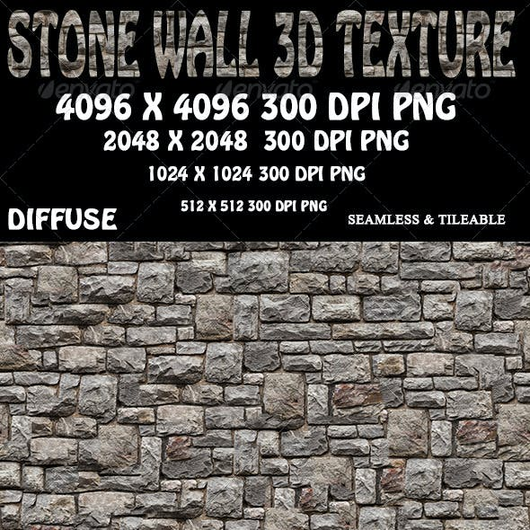 Stone Wall 3D Texture