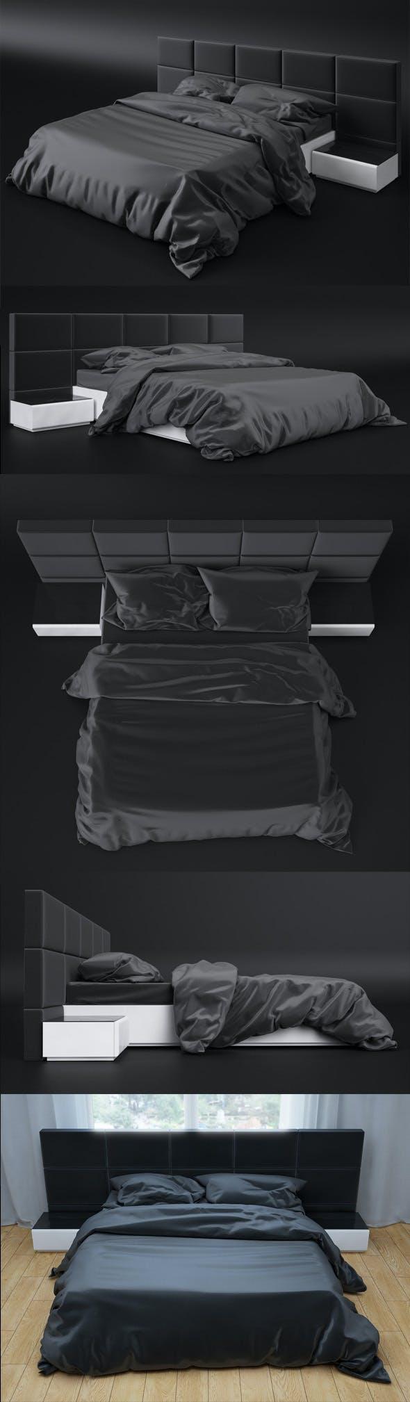 Bed sicilia premium 3D Model - 3DOcean Item for Sale