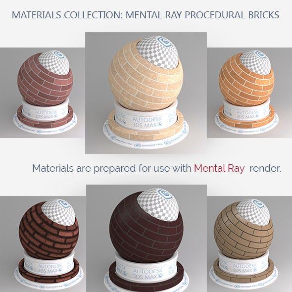Mental Ray Procedural Bricks