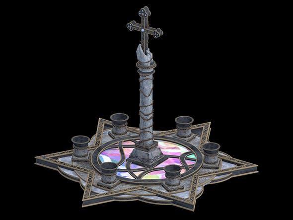 Cross Statues - 3DOcean Item for Sale
