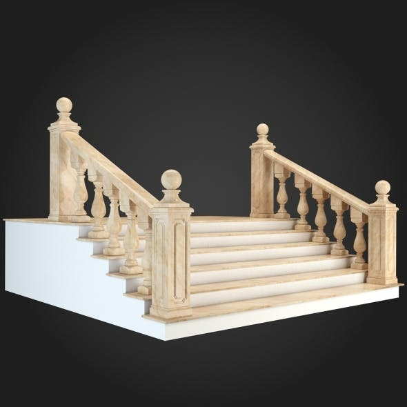 Staircase 001 - 3DOcean Item for Sale
