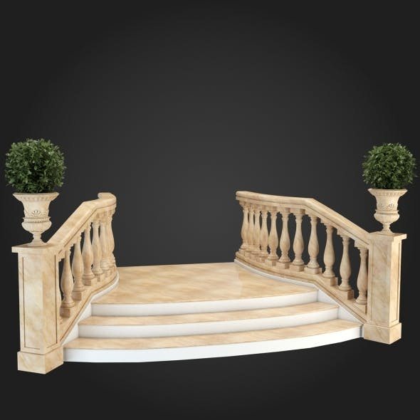 Staircase 003 - 3DOcean Item for Sale