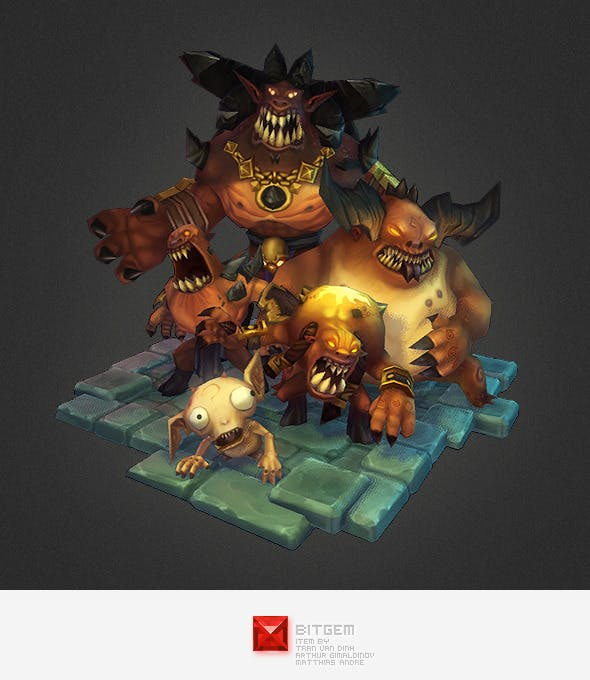 Low Poly Demon Crew - 3DOcean Item for Sale