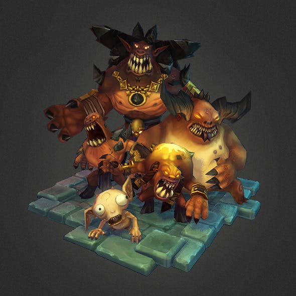 Low Poly Demon Crew