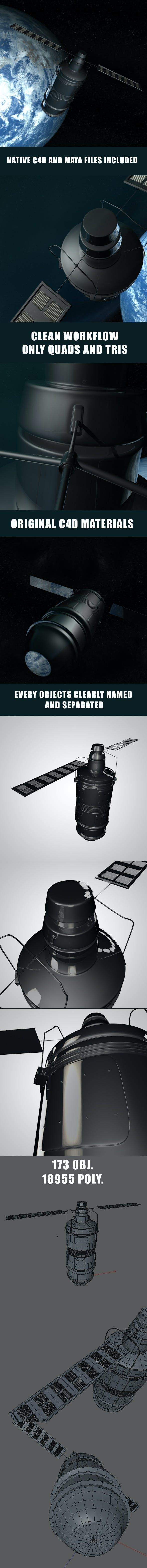 Space Satellite - 3DOcean Item for Sale