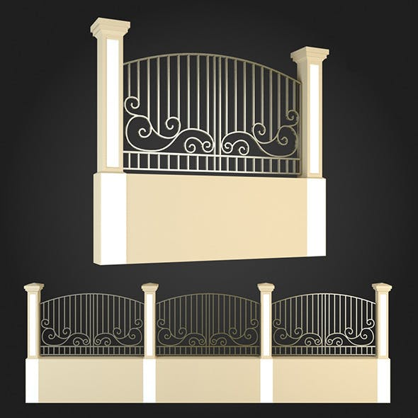 Fence 002 - 3DOcean Item for Sale