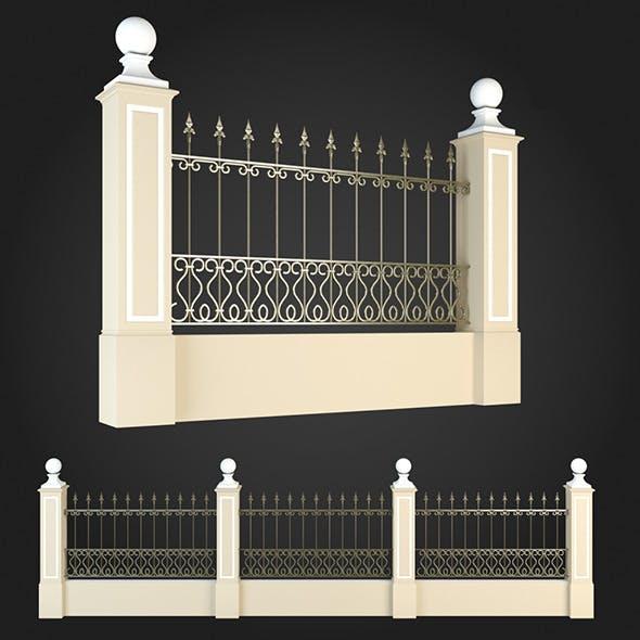 Fence 005 - 3DOcean Item for Sale