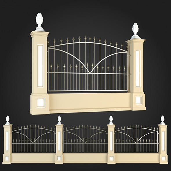 Fence 009 - 3DOcean Item for Sale