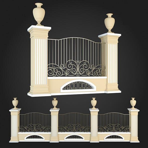Fence 017 - 3DOcean Item for Sale