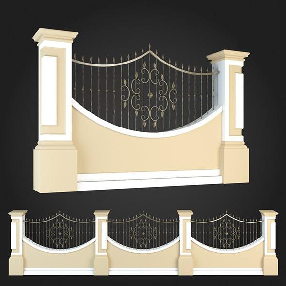 Fence 019 - 3DOcean Item for Sale