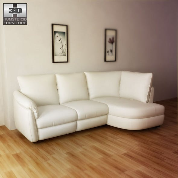 IKEA ALVROS sofa - 3D Model. - 3DOcean Item for Sale