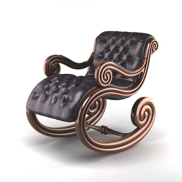 Leather rocking chair - 3DOcean Item for Sale