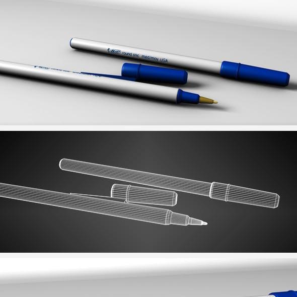 Blue BIC pen
