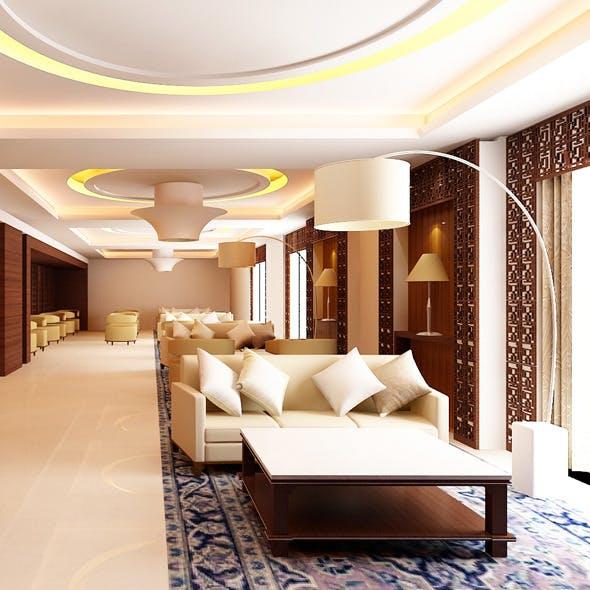 Realistic Restaurant Interior 3D model  - 3DOcean Item for Sale