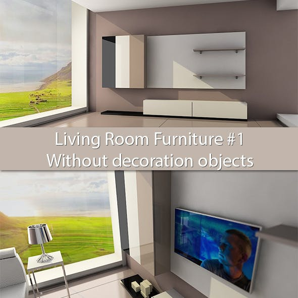 Living Room Furniture #1 (Without deco objects) - 3DOcean Item for Sale