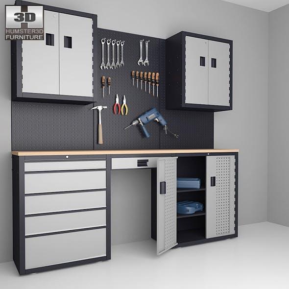 Garage 03 Set - furniture and tools