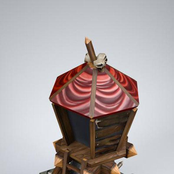 orc tower LOW POLY, mobile, game ready