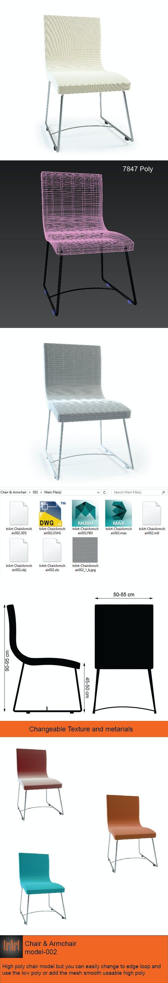 Chair Armchair - 3DOcean Item for Sale