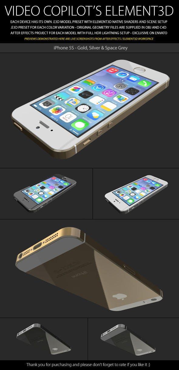 Element3D - iPhone 5S - 3DOcean Item for Sale
