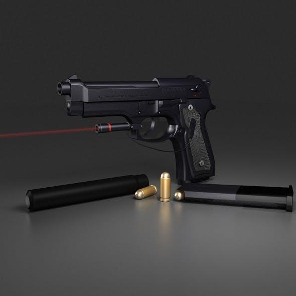 Black Beretta M9