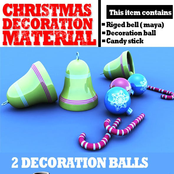 Christmas Decoration Materials Textured