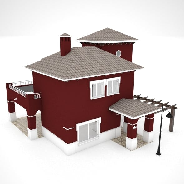30 Low poly houses Spanish villas  - 3DOcean Item for Sale