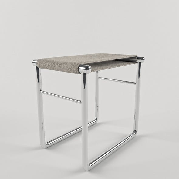 LC9 bathroom stool by Le Corbusier - 3DOcean Item for Sale