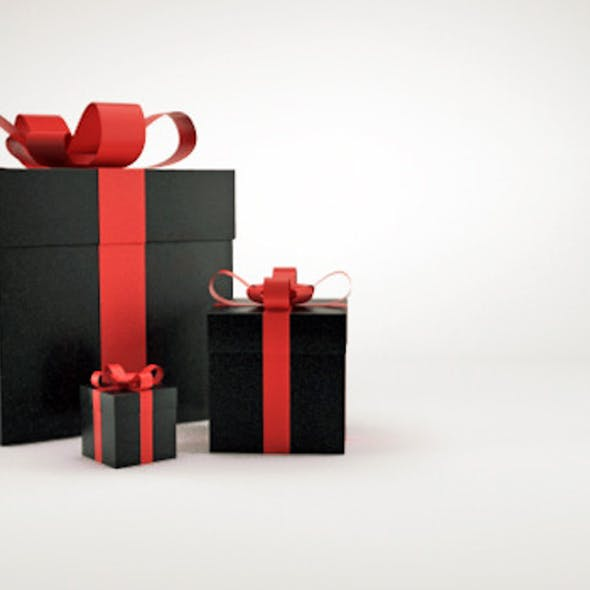 Christmas gift box presents V2