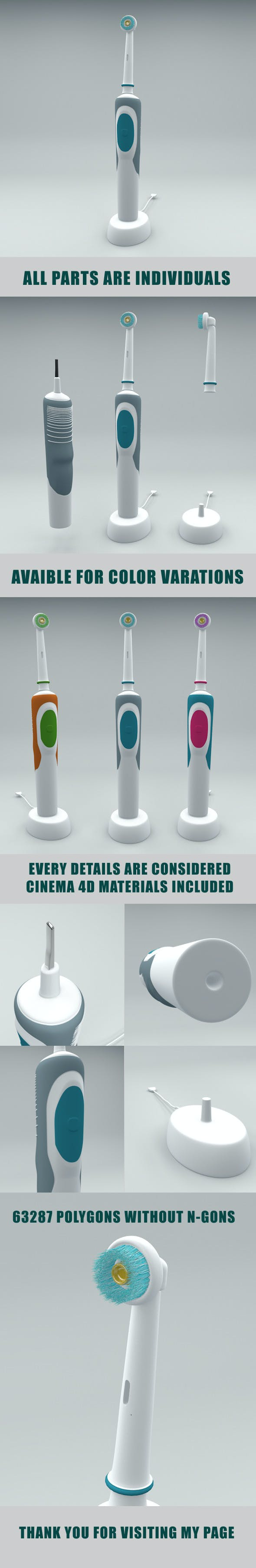 Electrical Toothbrush - 3DOcean Item for Sale